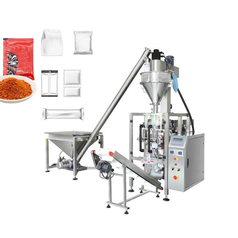 Máy đóng gói gia vị là loại chuyên dụng chuyên đóng túi nguyên liệu, cung cấp cho các cơ sở sản xuất, thực phẩm ăn nhanh. VD: gia vị mì gói, gia vị cháo ăn liền, ngũ cốc, ... cho ra sản phẩm chất ổn định và mẫu mã phong phú