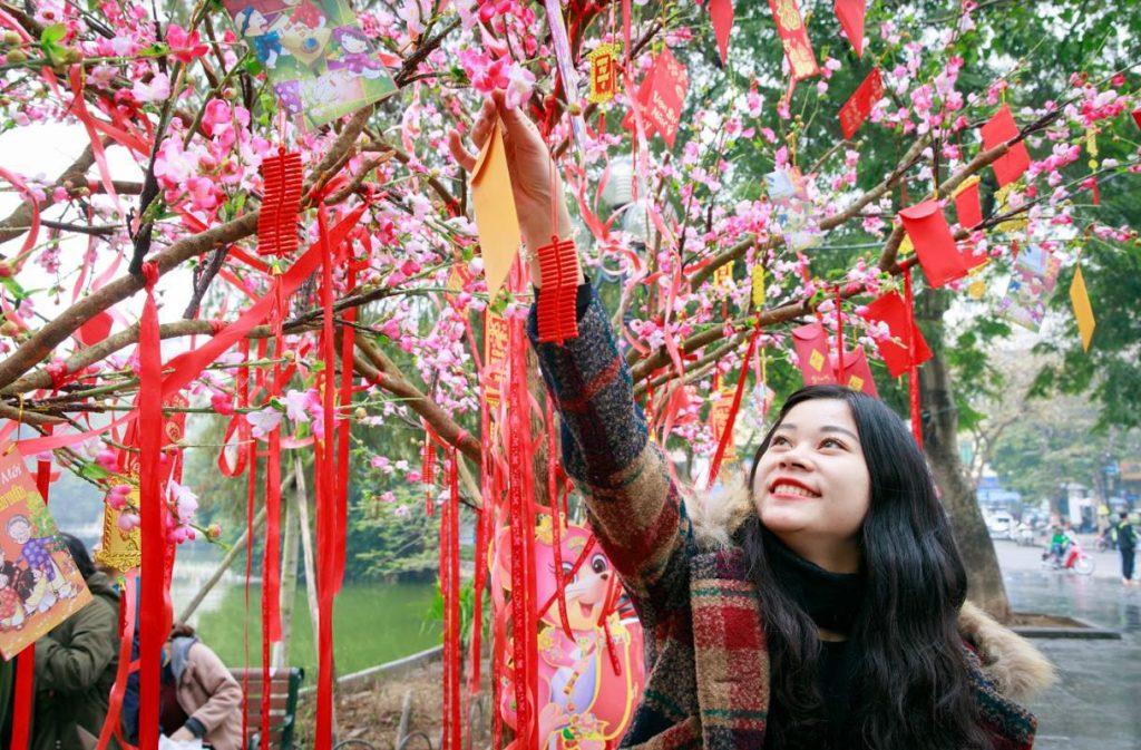 Vào đúng thời khắc đêm giao thừa hoặc vào sáng sớm hôm sau, người Việt thường có thói quen đi hái lộc đầu năm với mong muốn mang rước lộc về nhà để đón một năm mới thật nhiều may mắn.