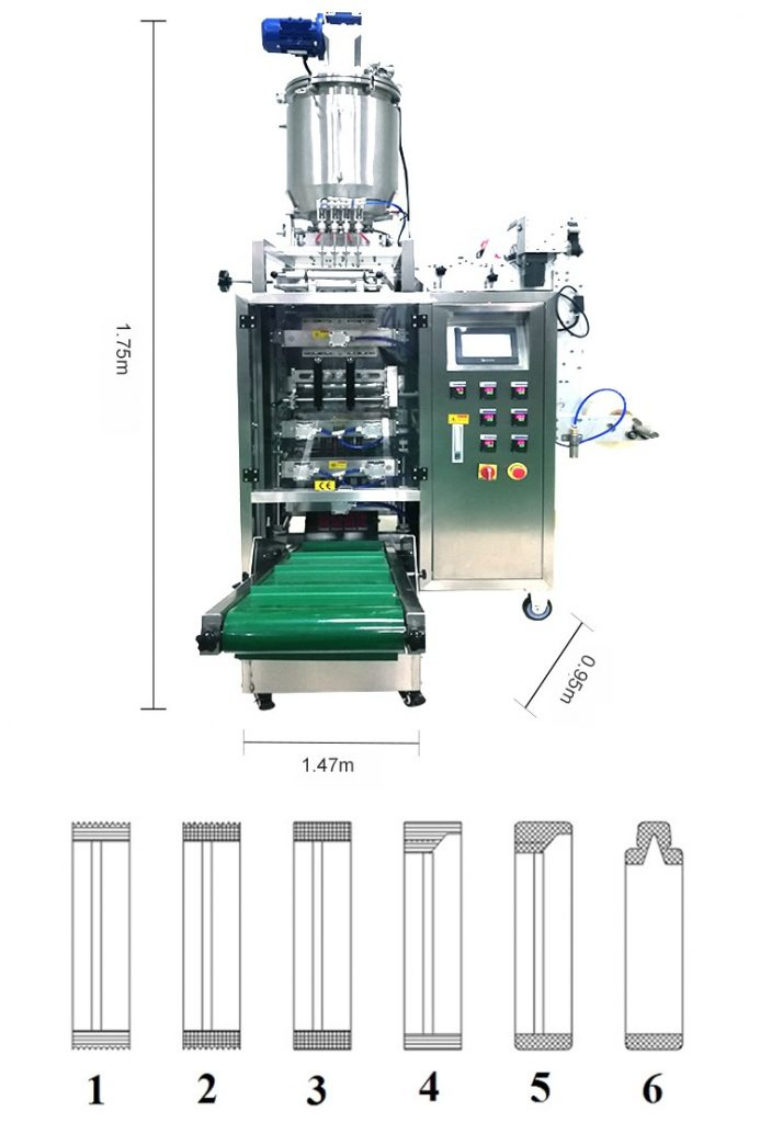 Máy đóng gói dung dịch có thể hoàn thành tất cả các giai đoạn đóng gói chỉ với một bước cài đặt đơn giản. Ngoài đóng gói dung dịch chất lỏng ra, máy đóng gói có thể đóng loại dung dịch sệt, tính nhớt ít hơn,... Máy đóng gói dung dịch được bạn hiểu như thế nào? Máy đóng gói dung dịch có cấu tạo giống như các loại máy thông thường gồm hai phần chính đó là phần điện và phần cơ khí. Phần cơ khí có cấu tạo là những kết cấu cơ học tham gia chính vào quá trình đóng gói sản phẩm. Phần điện tử có chức năng tạo liên kết điều khiển vận hành của các phần cơ khí với nhau. Giúp máy đóng gói vận hành một cách trơn tru hơn và nhanh chóng hơn. Có hai dạng máy đóng gói cơ bản của dung dịch: Máy đóng gói chất lỏng có đặc tính độ nhớt cao. Máy đóng gói dung dịch lỏng có khả năng dính dẻo. Vật liệu dùng cho các loại máy đóng gói dung dịch thường là: BOPP / CPP / VMCPP, BOPP / PE, PET / VMPET, PE, PET / PE,.... Ngoài ra, ta có thấy được máy đóng gói có nhiều hình dạng và kiểu dáng khác nhau để phù hợp với môi trường sản xuất và chi phí đầu tư của các doanh nghiệp: Máy đóng gói dung dịch nằm ngang: Loại máy này chuyên dùng để đóng gói khối lượng lớn, dạng túi 3 hoặc 4 viền. Máy có thiết kế biến tần chỉnh tốc nhập khẩu, động cơ cấp liệu servo và PLC điều khiển tiên tiến. Các công việc đóng gói hoàn toàn tự động từ việc tạo túi, chiết rót, hàn và in thông tin. Máy có độ ổn định về tốc độ, chính xác trong quá trình định lượng nên rất được ưa chuộng hiện nay. Máy đóng gói dung dịch dạng đứng: Loại máy này có thiết kế chuyên dụng cho từng sản phẩm cần đóng gói. Thông thường, máy dạng đứng có thiết kế nhỏ gọn, hoạt động ổn định, ít tốn diện tích. Máy được ứng dụng trong sản xuất như thạch siro, sữa chua, dầu gội…. Đối với máy này, phù hợp với các nhà đầu tư vừa và nhỏ để sản xuất Máy đóng gói dung dịch nhiều line: Đây cũng là loại máy hoạt động hoàn toàn tự động từ khâu chiết rót đến đóng gói. Máy ứng dụng sản xuất sản phẩm dạng bao bì túi nhỏ. Các sản phẩm được đóng gói từ máy này có sự đồng đ