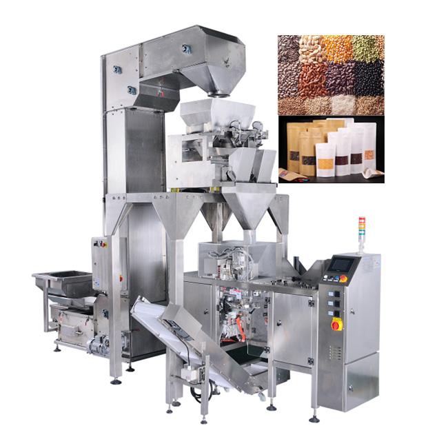 Cà phê Việt Nam xuất khẩu đứng thứ hai trên thế giới về chất lượng cũng như mẫu mã bao bì đa dạng và phong phú. Với mong muốn đưa cà phê ra thế giới và cho nó ngày càng lớn mạnh hơn, trước tiên chất lượng là điều cần thiết và bên cạnh đó bao bì cũng không được sơ sài, thiế tinh tế để được hòa nhập. Chính vì thế máy đóng gói cà phê ra đời ra đời để đáp ứng được nhu cầu sản xuất và cải tiến được chất bao bì trước khi xuất khẩu ra toàn thế giới Máy đóng gói cà phê ra đời đã đáp ứng được tất cả nhu cầu vừa đảm bảo được độ an toàn vệ sinh, mẫu mã ngày càng đa dạng,... Tăng nâng suất sản xuất, tiết kiệm chi phí thuê nhân công, phát triển được thương hiệu, sản phẩm sau khi đóng gói đều nhất quán, đồng đều, không lỗi, không thất thoát nguyên vật liệu, giữ trọn vẹn hương vị,.... Máy đóng gói cà phê có nhiều dạng máy khác nhau như máy đóng gói cà phê dạng túi stick, dạng viên nén, dạng gói, dạng túi 2-5kg,... để đáp ứng được nhu cầu sử dụng của doanh nghiệp lớn nhỏ khác nhau để sản xuất Vậy, thông qua bài viết dưới đây có các máy đóng gói cà phê khác nhau. Hãy cùng máy đóng gói An Thành tham khảo qua các dạng máy và cách vận hành nó khác nhau như thế nào nhé! Máy đóng gói cà phê bán tự động 100g - 3kg: Thiết bị này có thể đóng gói các dạng khối lượng khác nhau, kích thước túi cũng đa dạng không kém, nguyên liệu cũng vô cùng phong phú,... Máy đóng gói cà phê bán tự động 100g - 3kg Ưu điểm: Vì là máy bán tự động nên cách thức đóng gói cũng rất dễ vận hành và không cần quá nhiều nhân công đứng máy Nhược điểm: Tốn nhiều giai đoạn để hoàn thành việc đóng gói, cho ra được sản phẩm hoàn chỉnh Mẫu mã đôi khi chưa được bắt mắt và đảm bảo được vệ sinh trong lúc đóng gói. Dễ thất thoát nguyên vật liệu Vài tính năng và đặc điểm về thiết bị: Nó phù hợp cho việc đóng gói định lượng hạt trong ngành muối và hóa chất, v.v. Nó có ưu điểm là độ chính xác tính toán cao, hoạt động ổn định, trình diễn kỹ thuật số và vận hành dễ dàng. Phần mềm tự động điều chỉnh có chức năng điều khiển cài đặt thôn