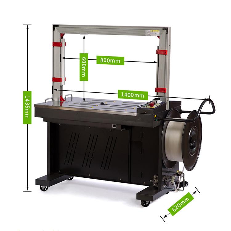 Máy đóng gói dây đai nhựa là sản phẩm đóng gói các vật dụng, sản phẩm lớn, cồng kềnh cho gọn gàng và chắc chắn để thuận tiện cho di chuyển. Cách thức điều khiển đơn giản, dễ dàng vận hành, chức năng lại ổn định và đảm bảo trong quá trình vận chuyển luôn được đảm bảo Thiết bị này có nhiều dạng, kích thước cũng như cách thức đóng gói (bán tự động, tự động,...). Đều tạo cho khách hàng sản phẩm sau khi đóng gói được hoàn thiện nhất, mẫu mã cho bạn có thể hoàn toàn hài lòng Nếu bạn còn thắc mắc và muốn tìm hiểu sâu hơn về máy đóng gói dây đai nhựa thì hãy tham khảo qua bài viết dưới đây của An Thành, bạn sẽ biết cách thức hoạt động nó như thế nào, vận hành ra sao,... và bạn muốn sở hữu nó hãy liên lạc ngay với chúng tôi nha! Máy đóng gói dây đai nhựa cầm tay: Sản phẩm này được cấu tạo chạy bằng pin, không có khóa PET PP, tất cả các hoạt động đều làm bằng tay. Nó có thể áp dụng cho nhiều cách đóng gói khác nhau với nhiều sản phẩm khác nhau như giấy, nhôm, gỗ, kim loại,.... Máy đóng gói dây đai nhựa cầm tay Lợi thế khi ta sử dụng thiết bị: 1. Dễ sử dụng, trọng lượng nhẹ, thiết kế điện công suất cao. 2. Thiết kế hàn kín, ma sát, với giao diện đẹp và đáng tin cậy. 3. Mô hình làm việc tự động, điều khiển căng và hàn. 4. Pin BOSCH NIMH được bao gồm, bộ sạc pin tùy chọn. 5. Nhiệm vụ nặng nề, thiết kế xây dựng đặc biệt, dễ dàng căng và dây đeo 6. Thép, nhôm khối, công cụ đóng gói nặng. 7. Thiết bị có tuổi thọ cao, toàn bộ dụng cụ & phụ tùng được làm từ 8. Hợp kim có độ bền cao, độ bền cao, công nghệ 9. Thủ công phát triển . 10. Thời gian niêm phong có thể điều chỉnh. Các nút hiển thị trực quan trên máy đóng gói dây đai nhựa cầm tay: Tension button: Nút điện thế Welding button: Nút hàn Bosch Battery: Pin Bosch Motor: Động cơ Status Display Light: Đèn hiển thị trạng thái Tension force adjustment: Điều chỉnh lực căng Electricty dispaly: Hiển thị điện Welding time adjustting: Điều chỉnh thời gian hàn Weld time adjust: Điều chỉnh thời gian hàn Battery power: Năng lượng pin Tension ad