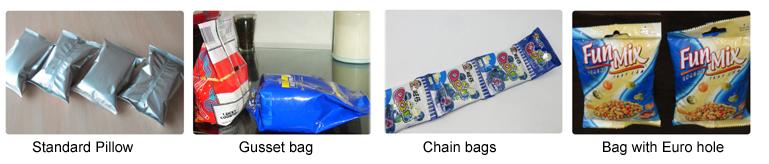 Máy đóng gói túi rời là thiết bị có thể đóng gói được tất cả các dạng túi khác nhau từ nhỏ đến lớn, kiểu dáng, kể cả nguyên liệu có trong bao bì cũng phong phú không kém. Thay vì đóng gói truyền thống bằng tay gây mất vệ sinh, chất lượng không được đảm bảo, bao bì không được cải tiến về mẫu mã,... Máy đóng gói sẽ thay bạn hoàn thành các bước trong quá trình đóng gói tạo ra sản phẩm ngày càng đẹp mắt, thu hút được sự quan tâm của khách hàng, an toàn vệ sinh cũng được nâng cao,.... Hãy theo dõi Máy đóng gói An Thành và tìm hiểu qua bài viết dưới đây các dạng máy đóng gói túi rời, xem chúng khác và giống nhau ở điểm trước khi đầu tư cho doanh nghiệp mình một chiếc máy nhé! Máy đóng gói túi rời đa năng: Với thiết kế với băng tải nằm ngang nên thiết bị có thể đóng gói nhiều dạng sản phẩm khác nhau với kích thước, hình dáng vô cùng phong phú,...Thích hợp để đóng gói các đối tượng thông thường như bánh quy, bánh mì, mì ăn liền, bánh trung thu, các bộ phận công nghiệp, hộp giấy hoặc khay,..hoặc bất kỳ sản phẩm gì. Máy đóng gói túi rời đa năng Các tính năng chính có trong thiết bị: Thiết kế mới, hình thức đẹp, cấu trúc hợp lý hơn, công nghệ tiên tiến hơn và tăng nâng suất sản xuất lên cao hơn Hệ thống điều khiển máy tính PLC nhập khẩu, màn hình cảm ứng màu dễ sử dụng, dễ vận hành, trực quan và hiệu quả hơn việc đóng gói bằng cách truyền thống Hệ thống vận chuyển phim nhập khẩu, cảm biến tiêu chuẩn màu nhập khẩu, định vị chính xác, hiệu suất tuyệt vời, bao bì đẹp Nhiều chức năng bảo vệ cảnh báo tự động để giảm thiểu thiệt hại, giảm được sự thất thoát các nguyên vật liệu trong quá trình đóng gói Hình dạng túi đa dạng, có thể cung cấp cho khách hàng túi gối, túi, túi lỗ, khớp, túi zipper, túi 3-4 cạnh, túi đứng, túi hộp,... Màn hình cảm ứng và điều khiển PLC ổn định và đáng tin cậy Tạo túi, đo sáng, làm đầy, niêm phong, mã hóa, túi -cắt một lần hoàn thành Cơ chế phát hành phim bên ngoài được thông qua để tạo điều kiện thuận lợi cho việc lắp đặt phim đóng gói Phim được điều khiể