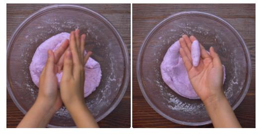 Khoai mỡ chiên mềm – ngon – giòn đơn giản dễ làm ngay tại nhà bạn. Bánh khoai mỡ chiên là món ăn vặt quen thuộc với các cháu nhỏ. Bánh khoai mỡ ngon có vỏ bên ngoài giòn rụm, bên trong bùi béo và có vị nhạt, ăn ngon mà không sợ ngấy. Đây là một món bánh mà nên có trong thực đơn và rất tốt cho sức khỏe của các bé đấy.  Không giống như những loại bánh khác, bánh khoai mỡ với lớp vỏ bên ngoài giòn rụm, bên trong lại béo béo, bùi bùi, thơm nức. Chỉ cần cắn nhẹ một miếng cũng đủ xao xuyến hàng triệu tâm hồn ăn uống. Hãy cùng vào bếp với An Thành và bắt tay ngay vào làm bánh khoai mỡ chiên đơn giản với nguyên liệu rẻ và dễ tìm này nhé.  Khoai mỡ sau khi chiên Công thức làm bánh khoai mỡ chiên giòn bất bại của Bếp xưa  Chỉ với 30 phút chế biến, bạn có thể thực hiện thành công món bánh khoai mỡ chiên giòn vô cùng thơm ngon. Dưới đây là công thức bất bại mà ai cũng có thể thực hiện thành công.  Nguyên liệu chuẩn bị:  - Khoai mỡ: 300gram  - Bột năng: 140 gram  - Bột nếp: 100gr  - Sữa tươi: 40ml  - Sữa đặc: 60ml  - Đường trắng: 40gr  - Ngoài ra chuẩn bị các dụng cụ: âu hoặc tô lớn, dao, dĩa, muỗng, nồi, chảo chiên, giấy thấm dầu.  Nguyên liệu chuẩn bị Thực hiện làm bánh khoai mỡ chiên giòn:  Bước 1: Sơ chế khoai mỡ  Khoai mỡ đem gọt vỏ, rửa sạch, cắt thành miếng nhỏ vừa ăn rồi cho vào nồi hấp hấp trong khoảng 20 phút cho khoai chín nhừ. Khi khoai mỡ chín, bạn cho vào bát tô, dùng thìa tán nhuyễn, dùng màng bọc thực phẩm bọc kín miệng bát lại. Sơ chế khoai mỡ  Bước 2: Trộn bột làm bánh khoai mỡ chiên  Cho bột mì, bột năng, sữa tươi, sữa đặc và đường vào bát khoai mỡ, đeo găng tay rồi trộn đều hỗn hợp bột cho đến khi nhuyễn mịn, chuyển sang màu tím là được. Dùng màng bọc thực phẩm bọc kín miệng bát lại và ủ trong 30 phút.  Lưu ý: Nếu không có bột nếp thì bạn có thể thay bằng bột mì, tuy nhiên bột mì khi ra thành phẩm bánh sẽ không dẻo mịn bằng bột nếp đâu nhé.  Trộn bột làm bánh khoai mỡ chiên  Bước 3: Nặn và chiên khoai mỡ  Sau 30 phút ủ bột, bạn tiến hành nặn bánh khoai thành 